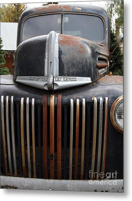 Nostalgic Rusty Old Ford Truck . 7d10281 Metal Print by Wingsdomain Art and Photography
