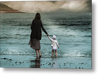 Nothing Is Too Big With A Hand To Hold Metal Print by Julie L Hoddinott