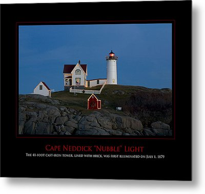 Nubble Light Metal Print by Jim McDonald Photography