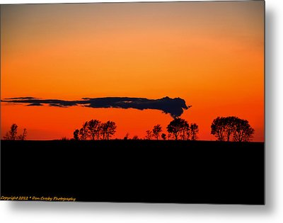 Nuclear Clouds Metal Print by Dan Crosby