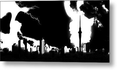 Nuclear Fallout Metal Print by Russell Clenney
