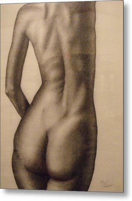 Nude Female Study Of Back Metal Print by Neal Luea