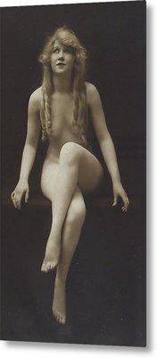 Nude Girl 1915 Metal Print by Steve K