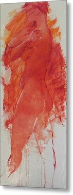 Nude With Arms On Shoulders Metal Print