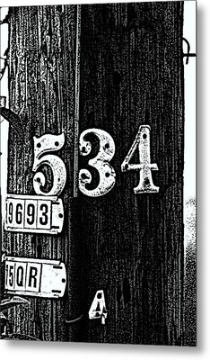 Numbers Metal Print by Bret Worrell