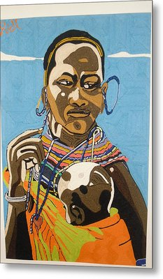 Nurturing Metal Print by Richmond Agbesi