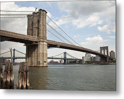 Ny Bridges 1 Metal Print