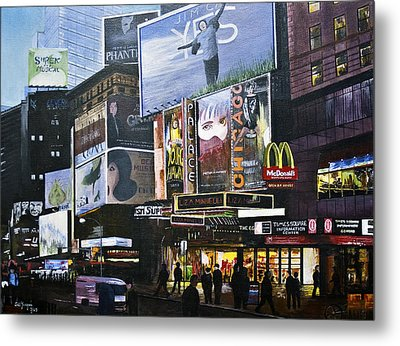 Ny Ny At Dusk Metal Print by Stuart B Yaeger
