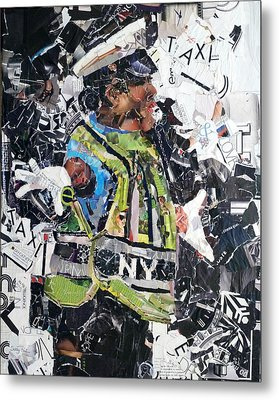 Ny Policewoman Metal Print by Suzy Pal Powell