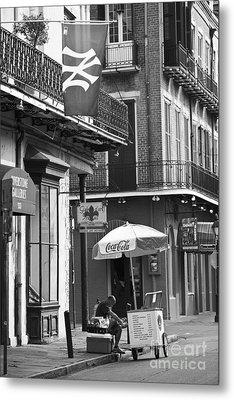 Ny Yankees On Royal Street Metal Print by Leslie Leda