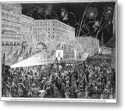 Nyc: Democrat Parade, 1876 Metal Print by Granger