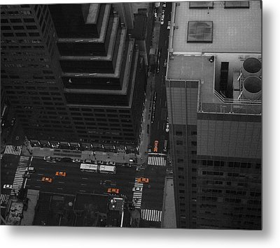 Nyc From The Top 1 Metal Print by Naxart Studio