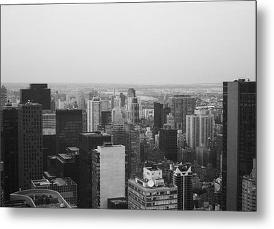 Nyc From The Top 3 Metal Print by Naxart Studio