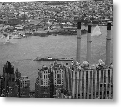 Nyc From The Top 4 Metal Print by Naxart Studio