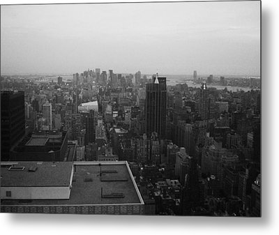 Nyc From The Top 5 Metal Print by Naxart Studio
