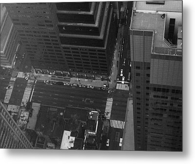 Nyc From The Top Metal Print by Naxart Studio