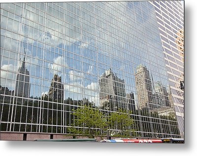 Nyc Reflection 3 Metal Print by Art Ferrier