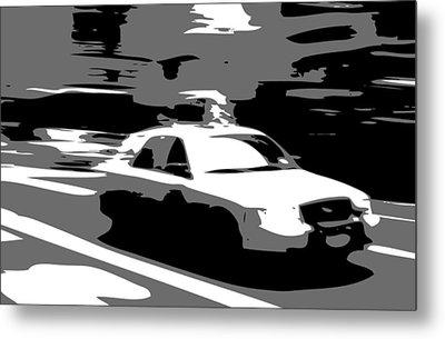 Nyc Taxi Bw3 Metal Print by Scott Kelley