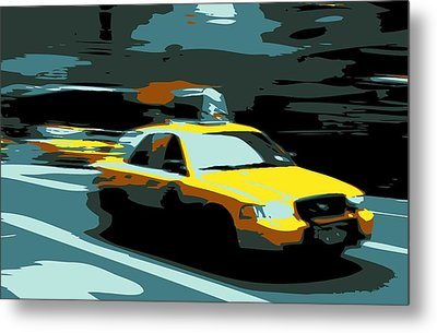 Nyc Taxi Color 6 Metal Print by Scott Kelley
