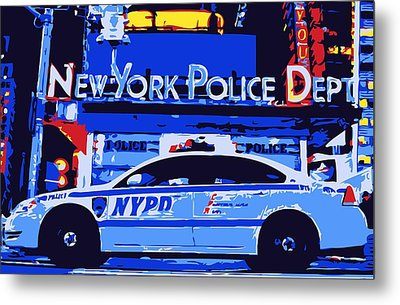 Nypd Color 6 Metal Print by Scott Kelley