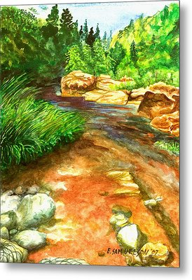 Oak Creek Red Metal Print by Eric Samuelson