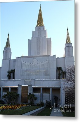 Oakland California Temple . The Church Of Jesus Christ Of Latter-day Saints . 7d11327 Metal Print by Wingsdomain Art and Photography