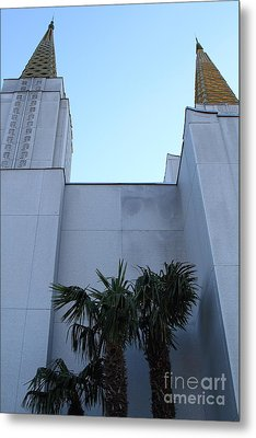 Oakland California Temple . The Church Of Jesus Christ Of Latter-day Saints . 7d11331 Metal Print by Wingsdomain Art and Photography