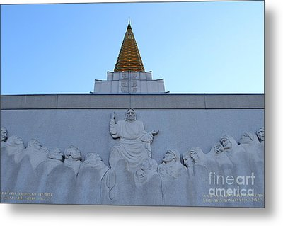Oakland California Temple . The Church Of Jesus Christ Of Latter-day Saints . 7d11334 Metal Print by Wingsdomain Art and Photography