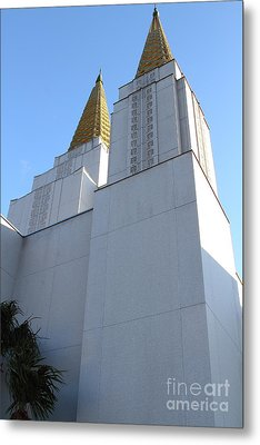 Oakland California Temple . The Church Of Jesus Christ Of Latter-day Saints . 7d11336 Metal Print by Wingsdomain Art and Photography