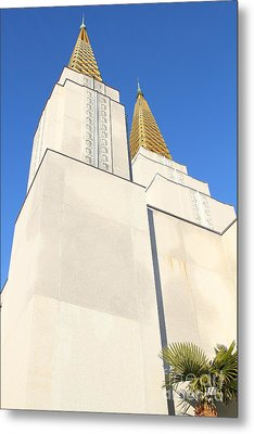 Oakland California Temple . The Church Of Jesus Christ Of Latter-day Saints . 7d11345 Metal Print by Wingsdomain Art and Photography