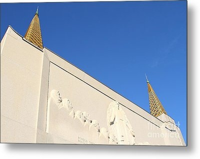 Oakland California Temple . The Church Of Jesus Christ Of Latter-day Saints . 7d11347 Metal Print by Wingsdomain Art and Photography