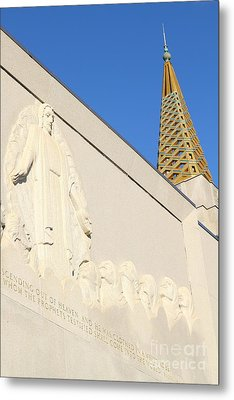 Oakland California Temple . The Church Of Jesus Christ Of Latter-day Saints . 7d11348 Metal Print by Wingsdomain Art and Photography