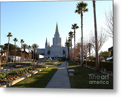 Oakland California Temple . The Church Of Jesus Christ Of Latter-day Saints . 7d11371 Metal Print by Wingsdomain Art and Photography