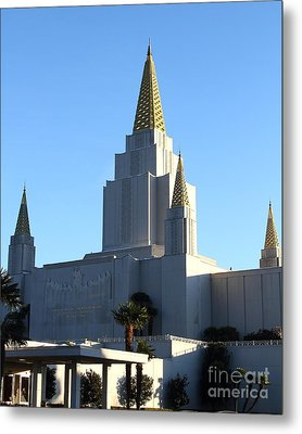 Oakland California Temple . The Church Of Jesus Christ Of Latter-day Saints . 7d11374 Metal Print by Wingsdomain Art and Photography