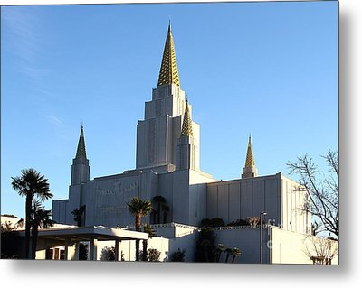 Oakland California Temple . The Church Of Jesus Christ Of Latter-day Saints . 7d11375 Metal Print by Wingsdomain Art and Photography