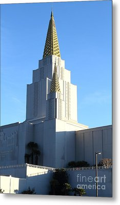 Oakland California Temple . The Church Of Jesus Christ Of Latter-day Saints . 7d11377 Metal Print by Wingsdomain Art and Photography