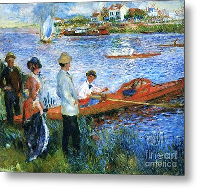 Oarsmen At Chatoli Metal Print by Pg Reproductions