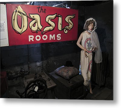 Oasis Bordello Basement - Wallace Idaho Metal Print by Daniel Hagerman