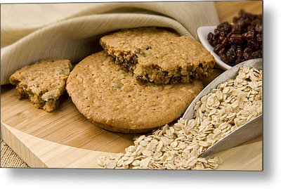 Oatmeal Raisin Cookie Metal Print by Rob Outwater