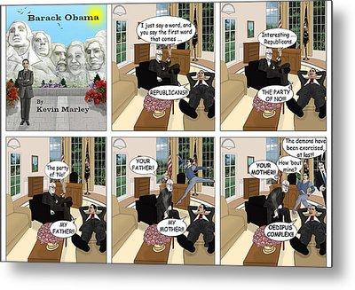 Obama N Freud II Metal Print