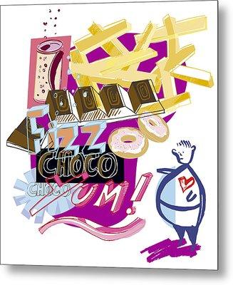 Obesity Metal Print by Paul Brown