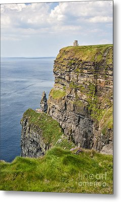 O'brien's Tower At Cliffs Of Moher Metal Print
