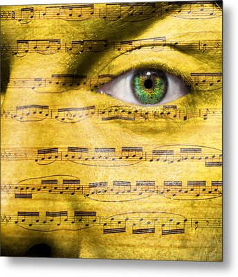 Obsessed With Music Metal Print