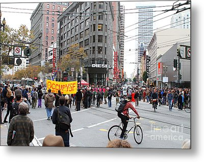 Occupy Sf . 7d9733 Metal Print by Wingsdomain Art and Photography