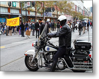 Occupy Sf . 7d9739 Metal Print by Wingsdomain Art and Photography