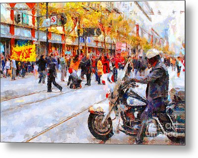 Occupy Sf Market Street . 7d9738 Metal Print by Wingsdomain Art and Photography