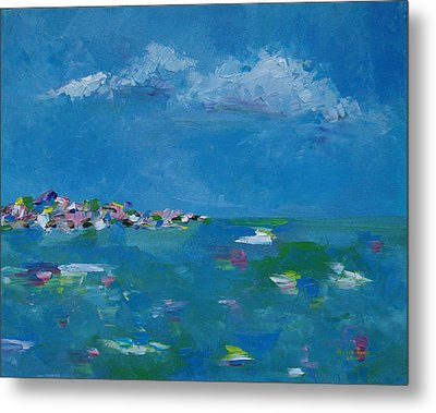 Metal Print featuring the painting Ocean Delight by Judith Rhue