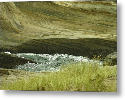 Ocean Dunes Metal Print by Jerry Cahill