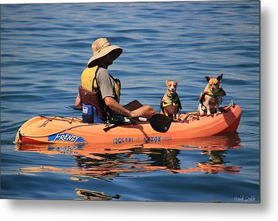 Ocean Kayaking Metal Print by Heidi Smith