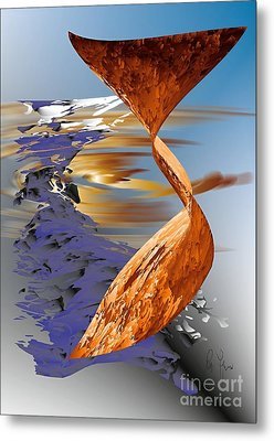 Metal Print featuring the digital art Ocean Of Time And Space by Leo Symon